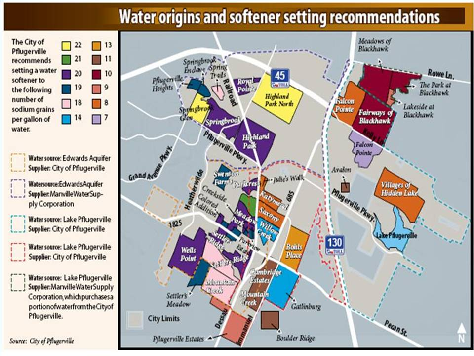TDS Map City Of Pflugerville Texas - Us water tds map