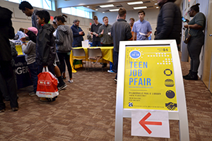 Teen Job Pfair sign