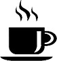 coffee mug icon black