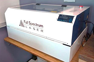 new laser cutter at the pfab lab