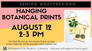 2019-08-12 Senior Crafternoon Botanical Prints