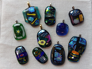Glass fusing finished pieces