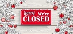 Closed Christmas Holiday