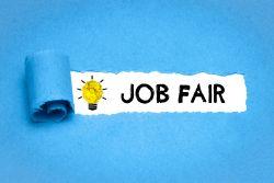 Job Pfair with Lightbulb