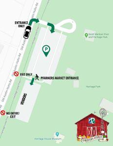 2020 COVID Pfarmers Market Map One Way