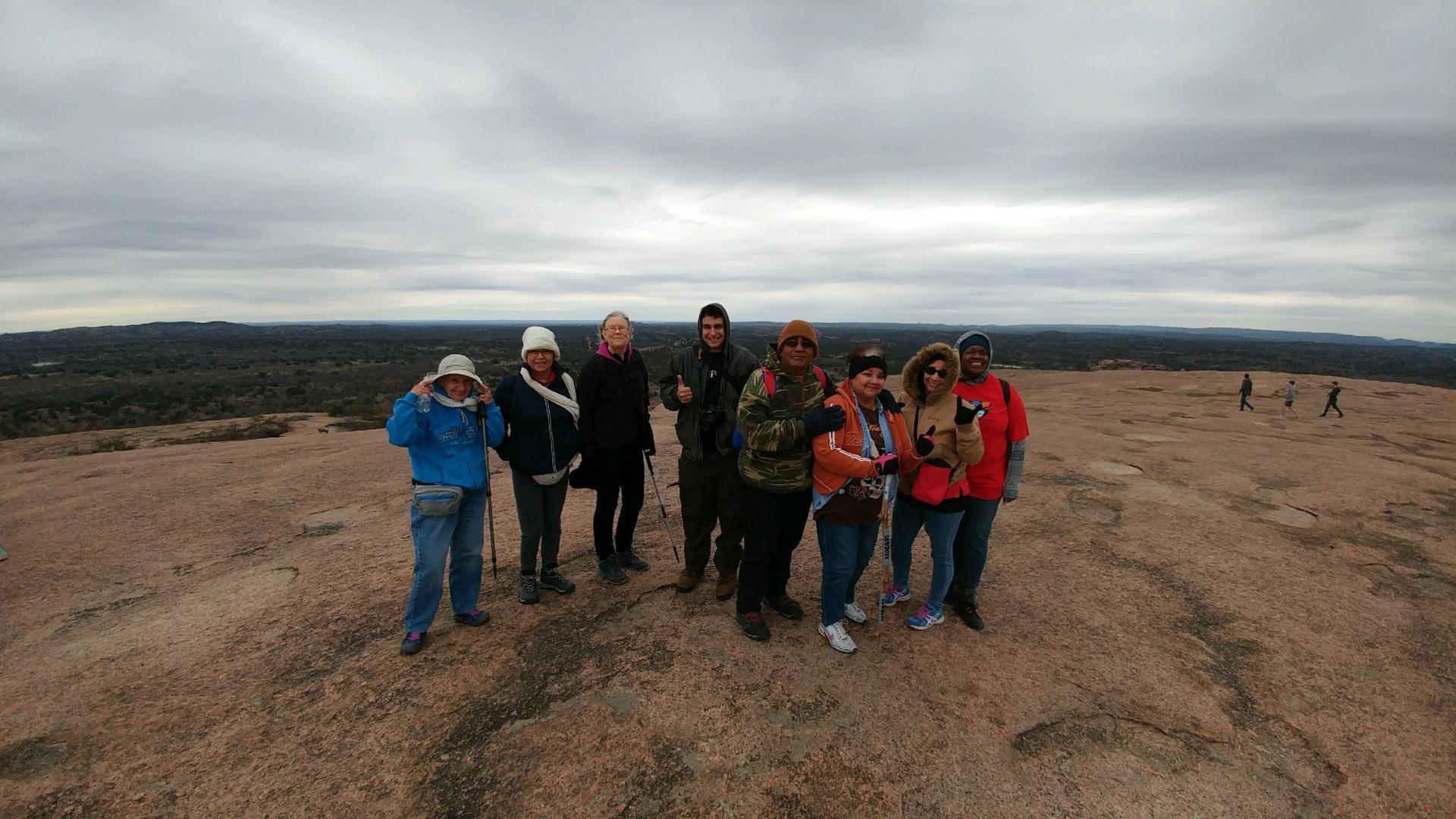 Pf Seniors at Enchanted Rock